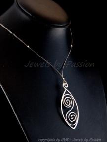 Ancient Order - silver hanger met ketting - 8280