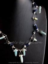 Spring Dance - ketting silver en edelstenen - 8236